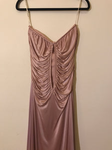 Seduce shimmer pink ruffled strapless dress Size 10