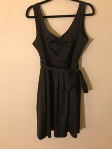 Princess highway black cocktail dress with side tie Size 12