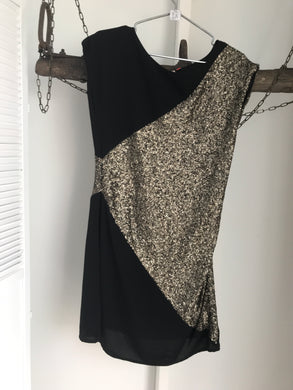 Only Black/gold Sequin Dress Size 12