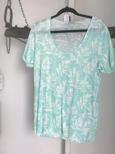 Country Road Mint/White Floral Top Size XS