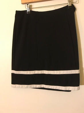 Review black skirt with white trim Size 14