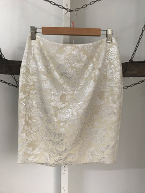 Forever 21 Silver Floral Skirt Size UK8