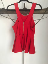 Saint Shylo Red Peplum Top Size XS