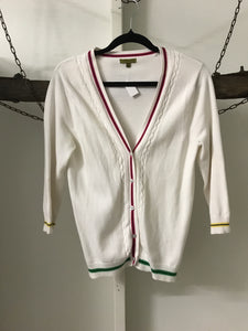 Lucky 13 White Colour Trim Cardi Size 6