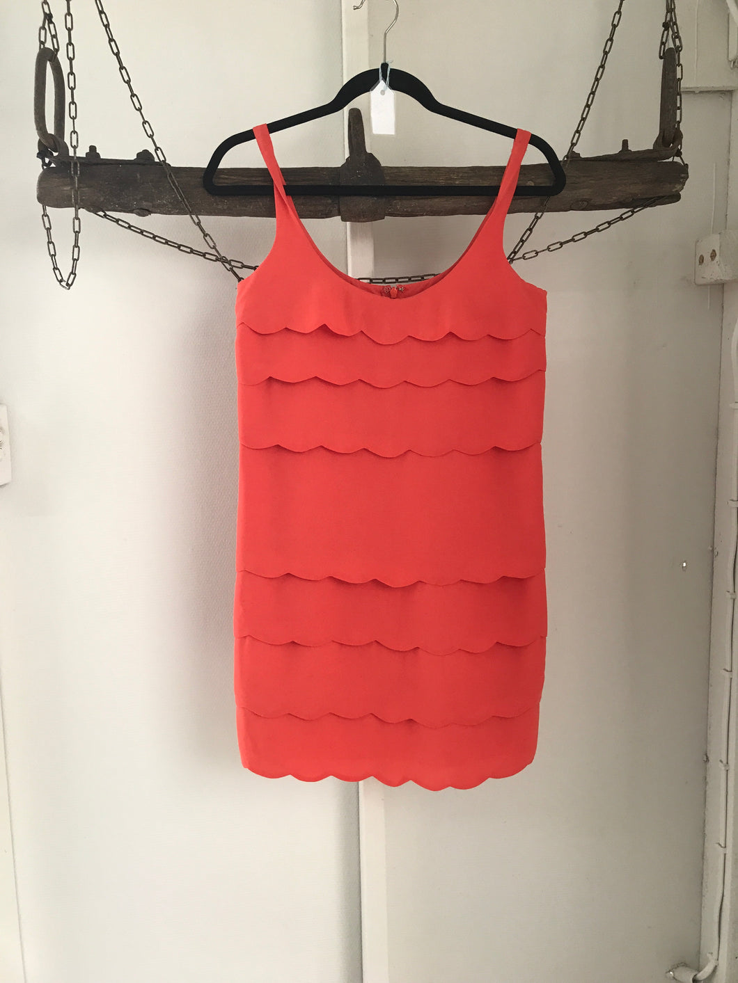 Portmans Orange Ruffle Dress Size 6
