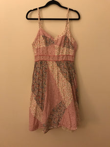 Peace angle pink floral summer dress Size M ( 12-14)