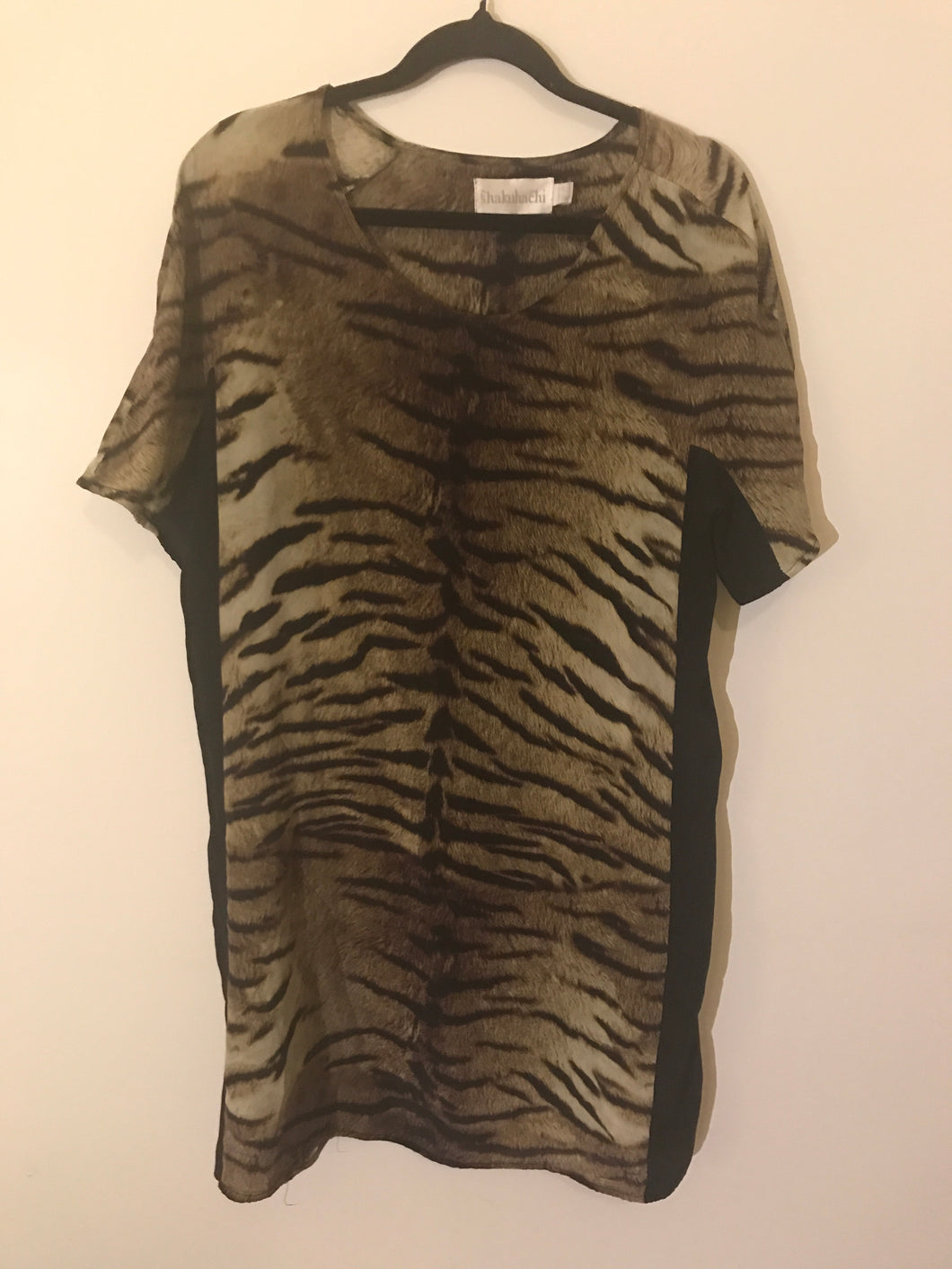 Shakuhachi tiger print silk dress Size 10