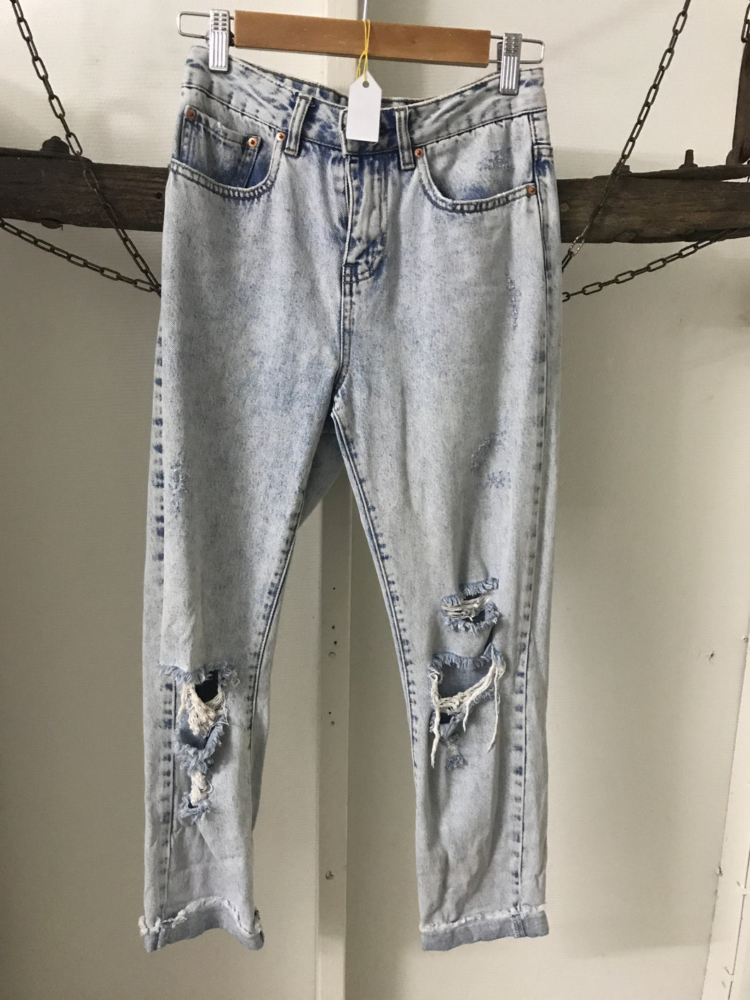 Glassons Ripped High Waisted Jeans Size 6