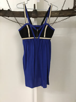 Azuki Blue/Gold/Black Dress Size 10