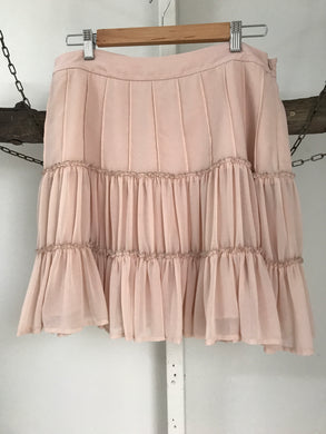 Forever New nude pink skirt Size 14