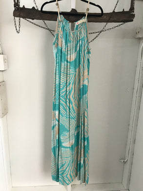 Beauty Long Turquoise Long Beach Dress Size 10