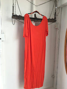 Emerson Orange Long Tshirt Dress Dress Size L (16)