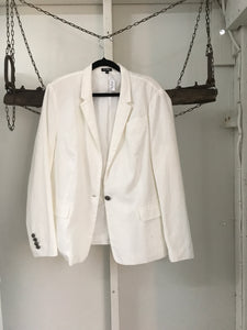 Emerge White Linen Jacket Size 18