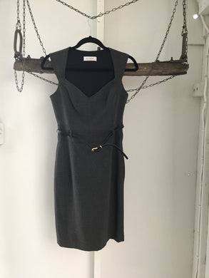 Portmans Charcoal Business Belt Dress Size 6