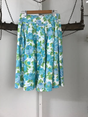 Review Green/blue Floral Skirt Size 10