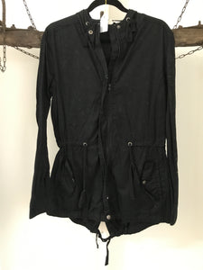 Jay Jay Black Trench Jacket Size 14