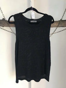 Sheike Black Knit Sleeveless Top Size S (8-10)