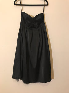 Dotti black cocktail strapless with bow Size 10