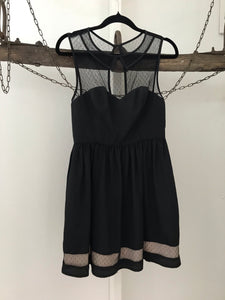 Blue Juice black and nude sheer sleeveless dress Size 8