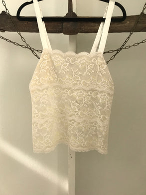 Basque white lace camisole Size Small