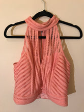 Bardot lace halter crop pink top NWT Size 10