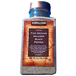 Kirkland Fine Ground Malabar Black Pepper, 12.3 Ounce