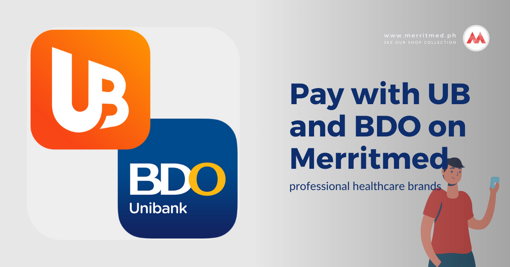 Pay with UB and BDO on Merritmed PH