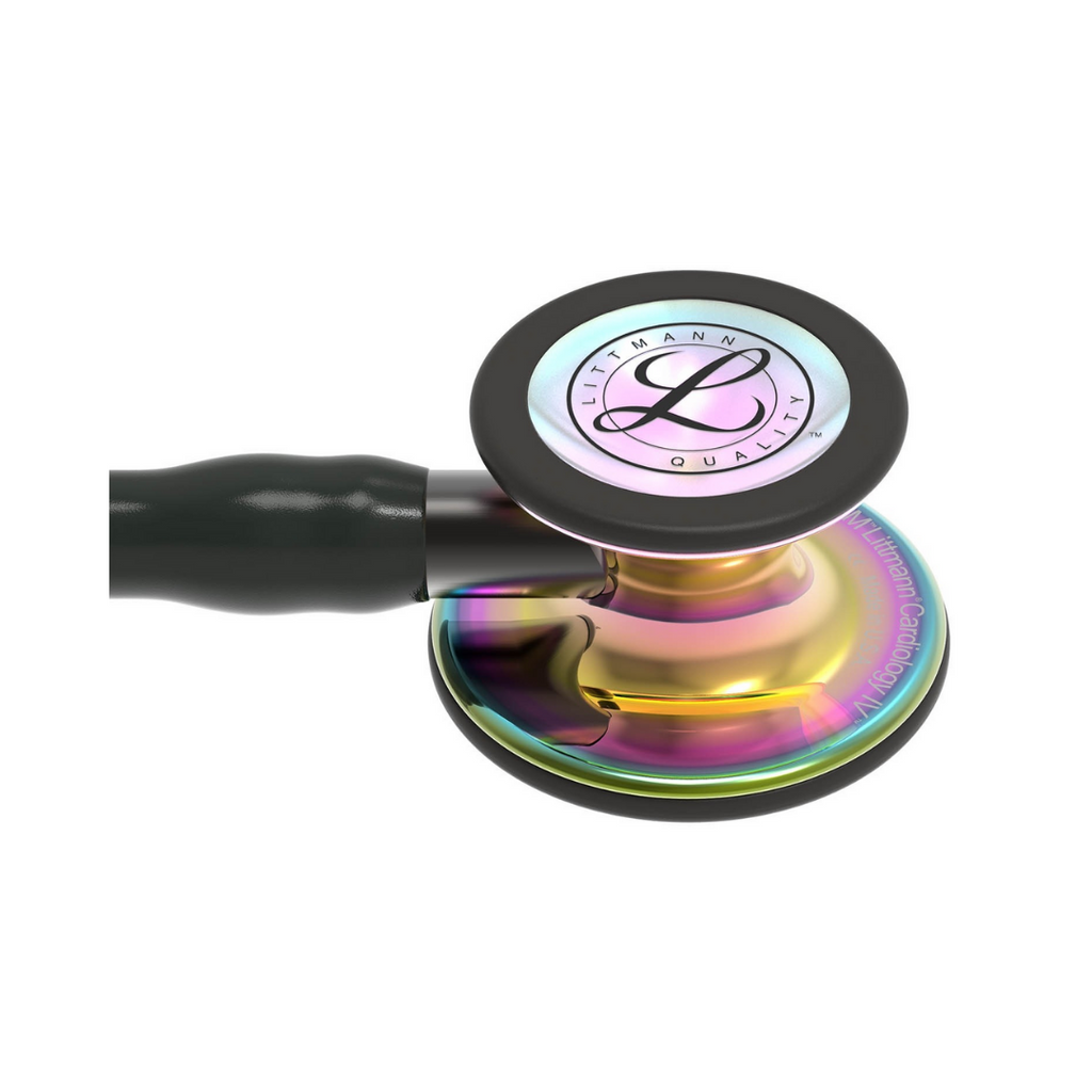 3M Littmann® Cardiology IV™ Stethoscope (HP Rainbow Finish, Black Tube)