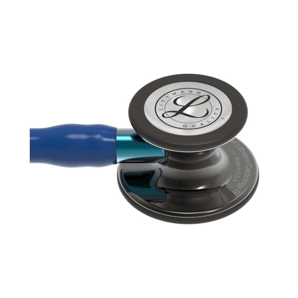 3M Littmann® Cardiology IV™ Stethoscope (Smoke Finish, Navy Blue Tube)