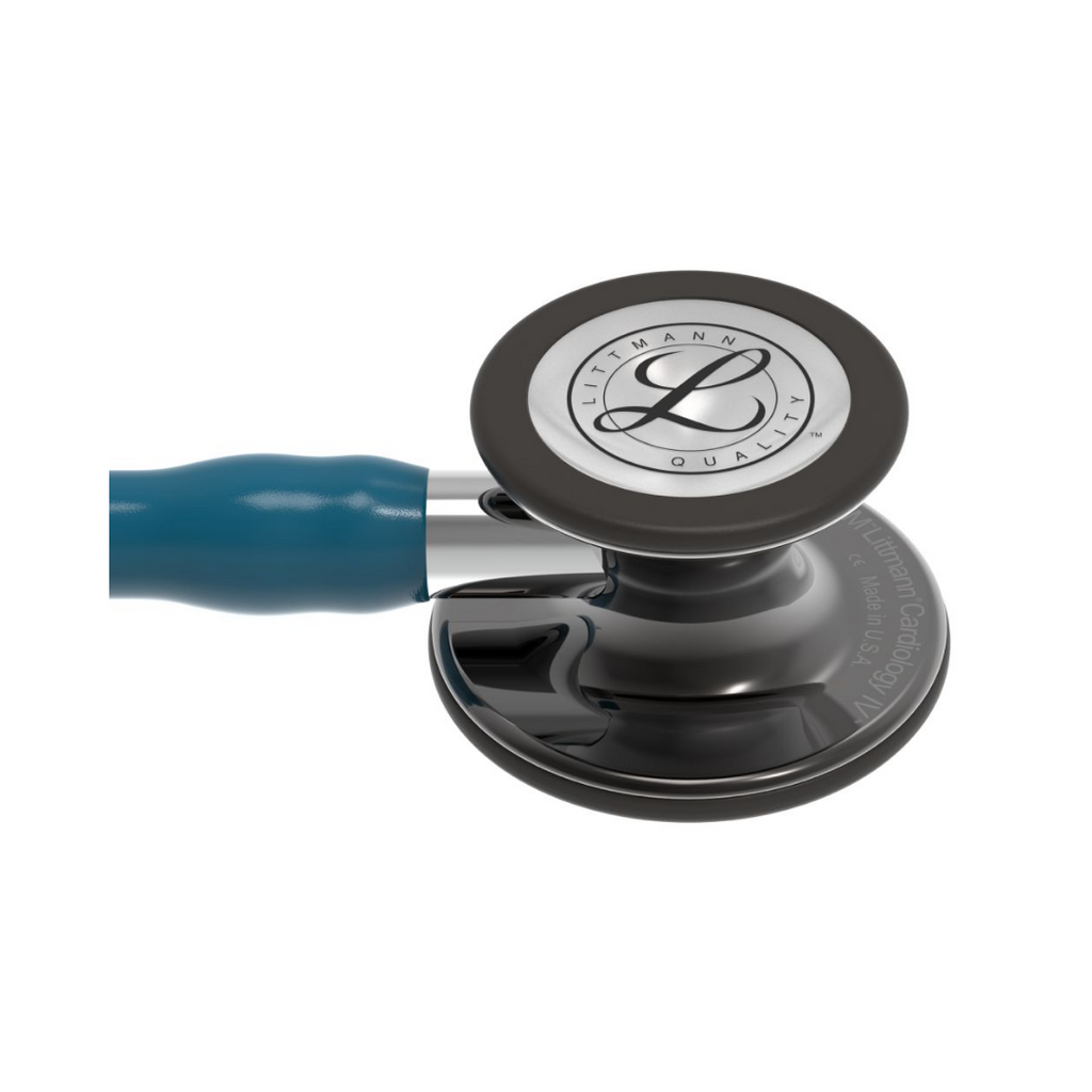 3M Littmann® Cardiology IV™ Stethoscope (Smoke Finish, Caribbean Blue Tube)
