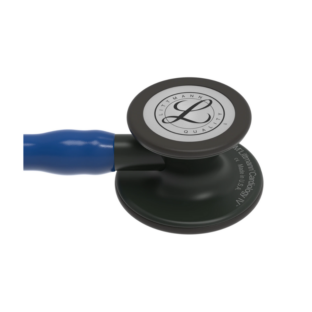 3M Littmann® Cardiology IV™ Stethoscope (Black Finish, Navy Blue Tube)