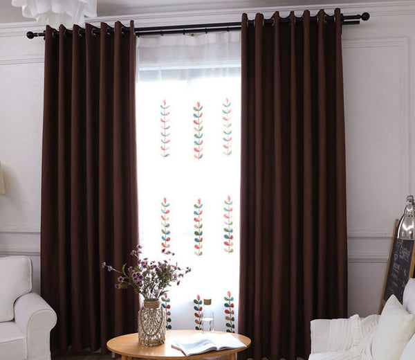 Mai kuu 80% Blackout Window Curtains Thermal Insulated Curtain Drapes for Living Bedroom Window, 1 Panel, 50 x 96 Inch
