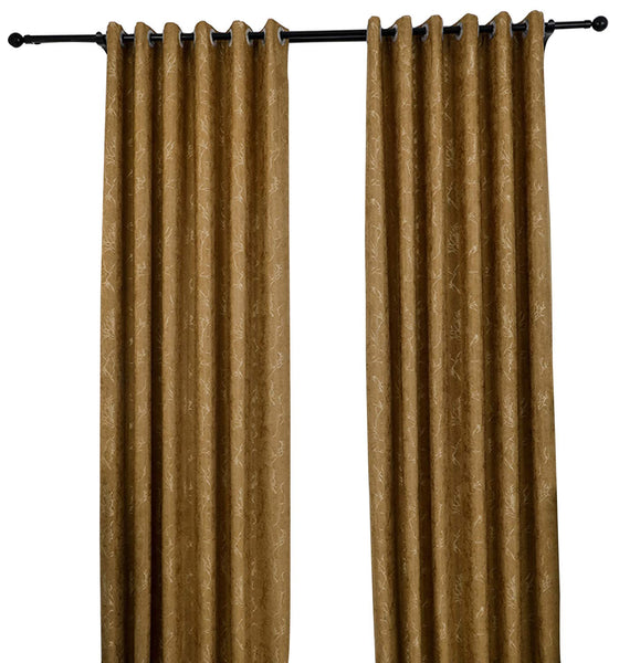 "Mai kuu Luxury Elegant Textured Jacquard Window Curtain Panel, 72"" W X 96"" L Wheat Grommet Drapery for Traverse Rod Or Track, Living Room Bedroom (1 Panel)"