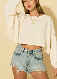 Casual & Comfy Cropped Top