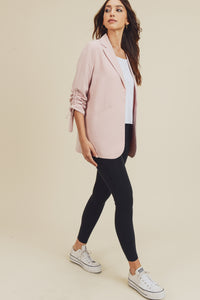 Blush Ruched Blazer