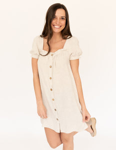 Linen Button Dress