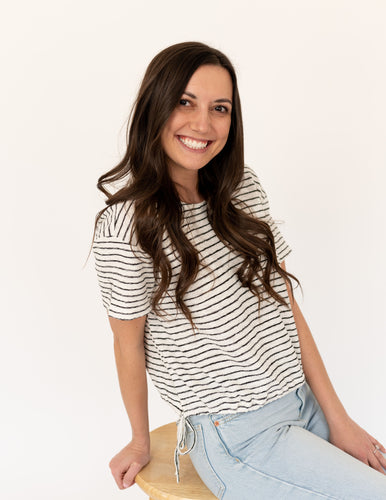 Striped Up Crop Tee