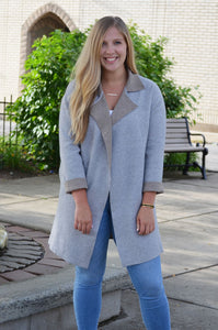 Grey Sweatshirt Coat