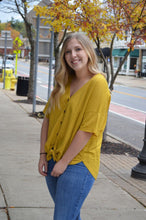 Mustard Button Down Top