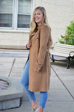 Camel Suede Trench Coat