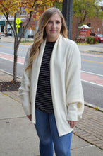 Cream Oversized Cardigan