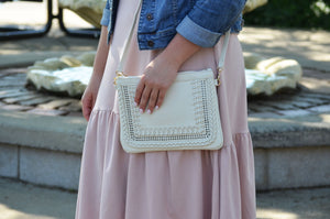 Ivory Woven Clutch