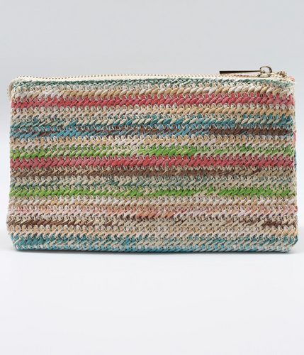 Straw Multi Colored Crossbody