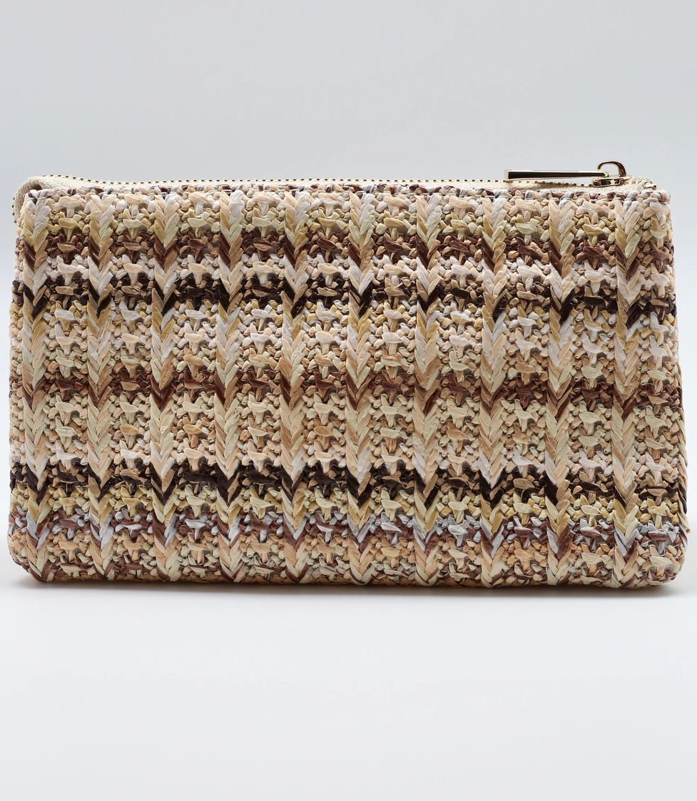 Straw Natural Woven Crossbody