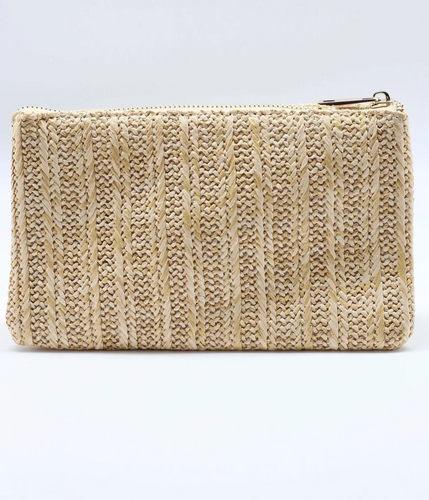 Straw Striped Crossbody