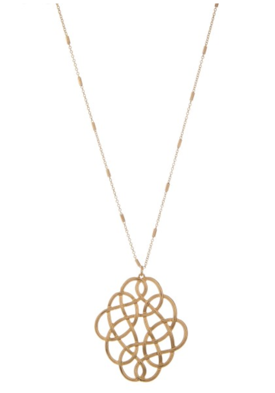 Gold Loopy Necklace