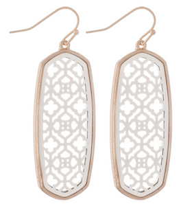 Two Tone Filigree Earrings