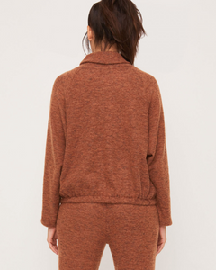 Rust Drawstring Top