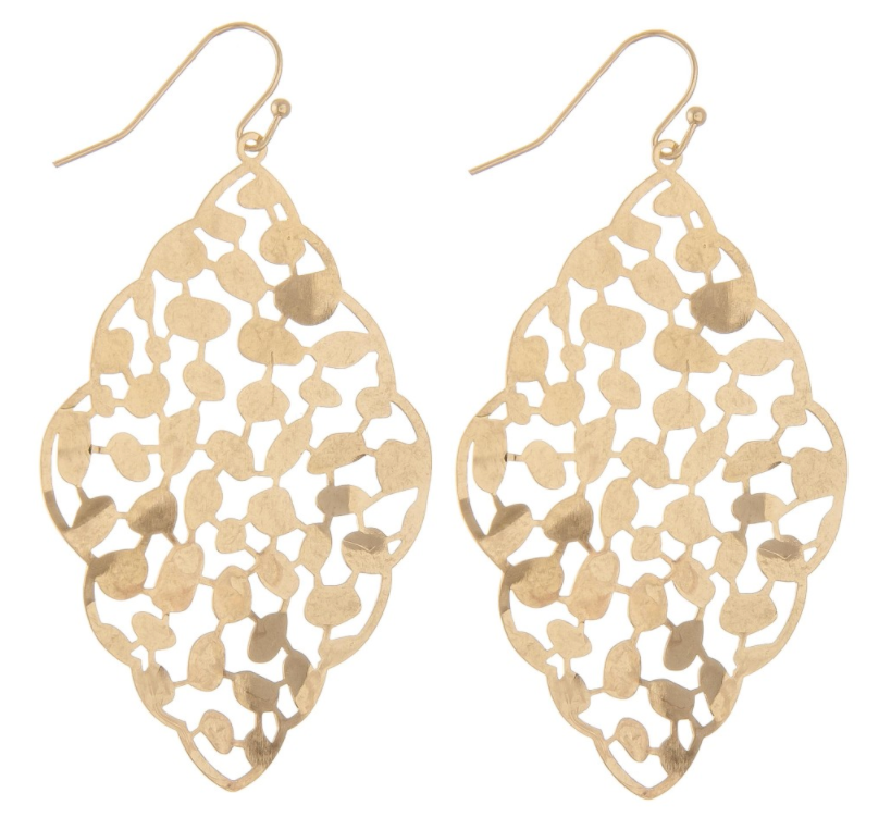Curvy Filigree Drop Earrings