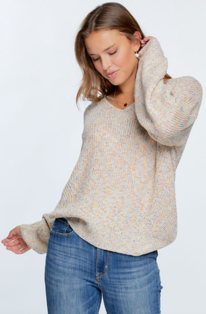 Cream Multi Sweater